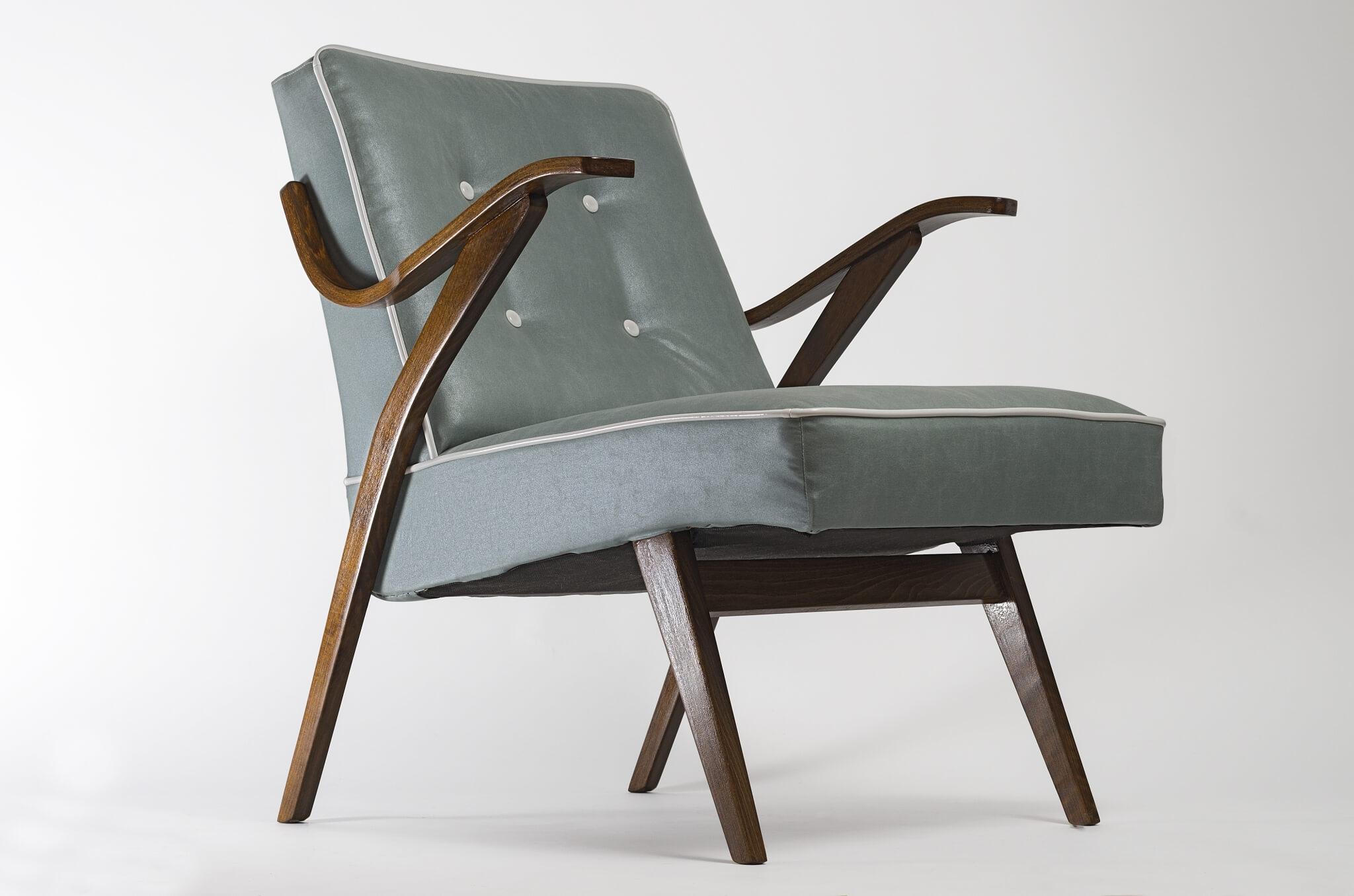 Exceptionnel Homeu003eMid Century Modernu003eRestored Turquoise MCM Armchair From 1960u0027s