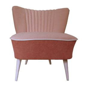 Mauve Club 70's – restored coctail chair