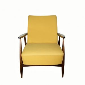 Refurbished MCM armchair (Yellow/nut)