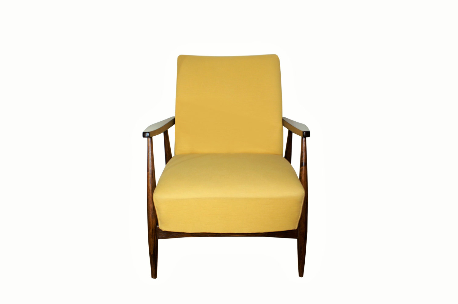 Refurbished Mcm Armchair Yellownut Updatechaircom