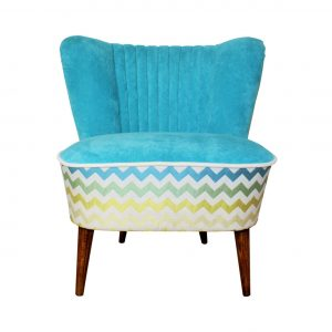 Zig Zag Club 70's – restored coctail chair