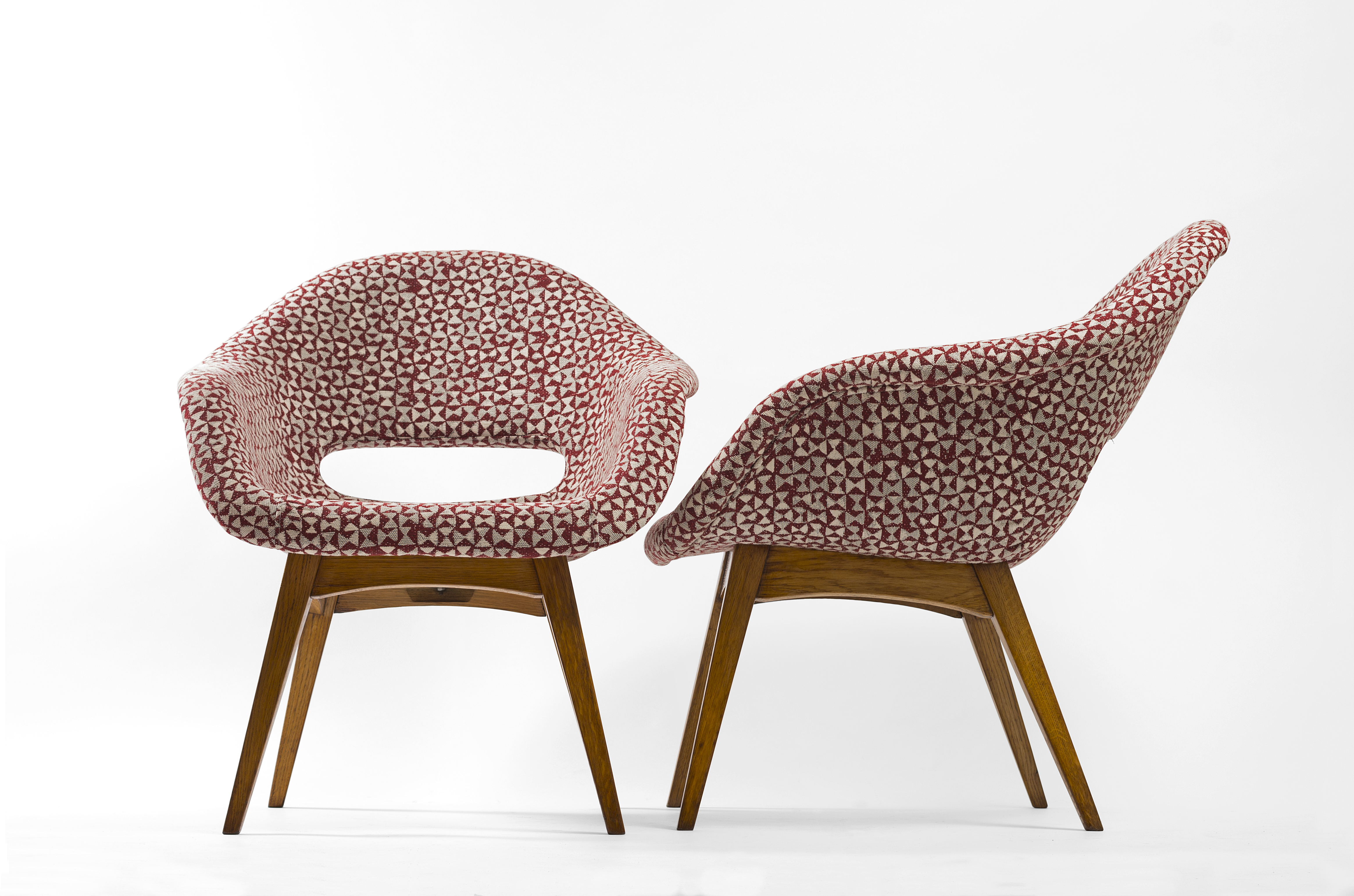063f97227b9 Pair of fully restored Miroslav Navratil chair from 1960 ...